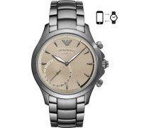 Hybrid-Smartwatch silber