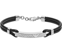 Armband silber/schwarz