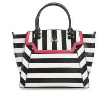 La Portena Striped Handtasche schwarz/weiß