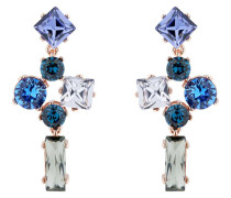 Satara Ohrringe roségold/blau