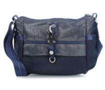 Qukoo Nylon Put Sick Handtasche blau metallic