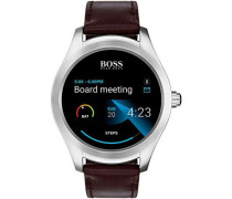 On Touch Hybrid-Smartwatch silber