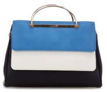 Leggiadra Handtasche blau/weiß