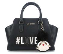 Girly Pom Pom Handtasche schwarz