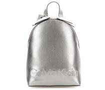 Edged Rucksack silber metallic