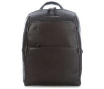 Black Square Laptop-Rucksack 13″ dunkelbraun