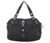 Nylon Cotton Candy Handtasche schwarz
