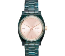 Medium Time Teller Acetate Quarzuhr aqua