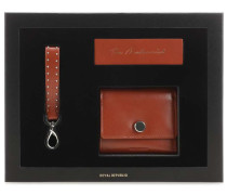 The Modernist Gift Box Geldbörse cognac