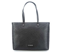 Embossed Logo Shopper schwarz
