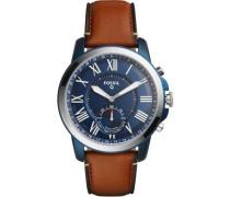 Q Grant Hybrid-Smartwatch blau