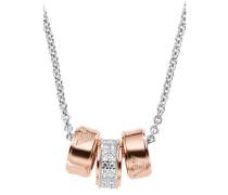 Heritage Halskette roségold/silber
