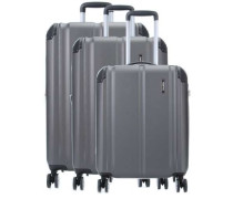 City 4-Rollen Trolley Set anthrazit