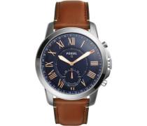 Q Grant Hybrid-Smartwatch silber/blau