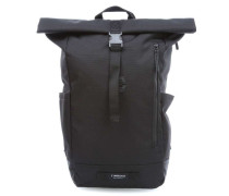 TBH Coated Tuck Pack Rolltop Rucksack 15″ schwarz