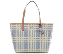 Cortina Cheque Lara Shopper hellblau