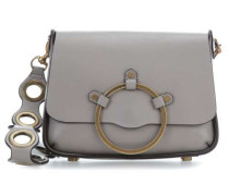 Ring Schultertasche taupe