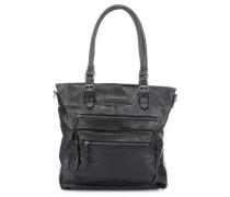 Megapixel Handtasche schwarz