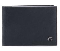 Black Square RFID Geldbörse blau