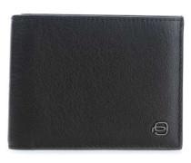 Black Square RFID Geldbörse dunkelbraun