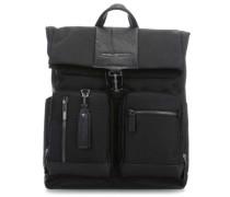 Brief Laptop-Rucksack 15,6″ schwarz