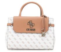 Esme Handtasche braun/weiß