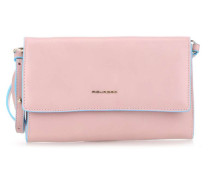 Blue Square Clutch rosa