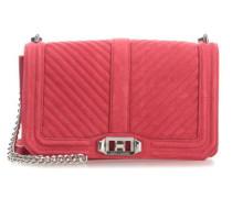 Chevron Quilted Love Schultertasche rot