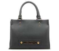 Lettering Handtasche schwarz