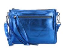 Dottie Schultertasche blau metallic