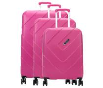 Kalisto 4-Rollen Trolley Set pink 3-tlg.