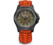 I.N.O.X. CARBON Schweizer Uhr schwarz/grün