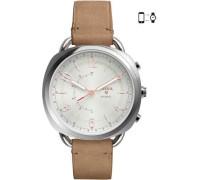 Q Accomplice Hybrid-Smartwatch silber/weiß