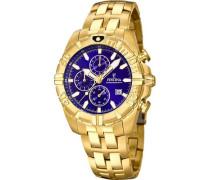 Sport Chronograph gold/blau