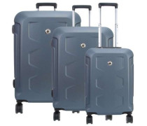 PC Hardside 4-Rollen Trolley Set blau 3-tlg.