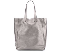 Calf Shimmer Shimmer Shopper metallic pink