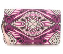 Ethnical Print Schultertasche rosa