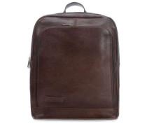 Laptop-Rucksack 14″ dunkelbraun