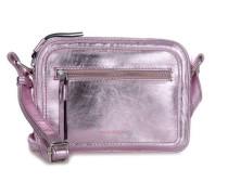 Lovebug Schultertasche metallic pink