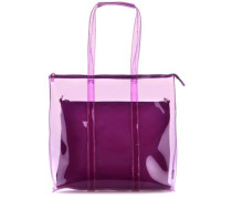 Transparent 2tlg Shopper 12″ violett