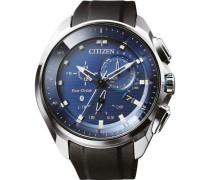 Eco-Drive Bluetooth Hybrid-Smartwatch silber