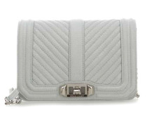Chevron Quilted Love Small Schultertasche