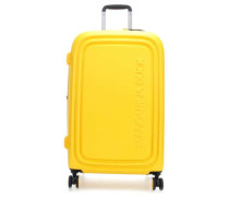 Logoduck + 4-Rollen Trolley gelb 69 cm