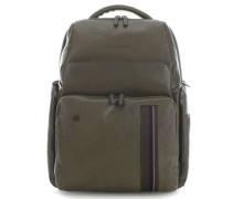 Black Square Laptop-Rucksack 15.6″ olivgrün