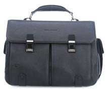 Black Square 15'' Aktentasche mit Laptopfach blau