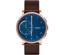 Connected Hagen Hybrid-Smartwatch roségold/blau