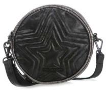 Round Rush Schultertasche schwarz metallic
