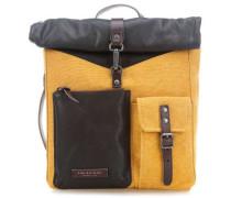 Rolltop Rucksack 13″ gelb