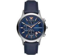 Chronograph silber/blau
