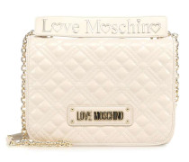 New Shiny Quilted Schultertasche beige
